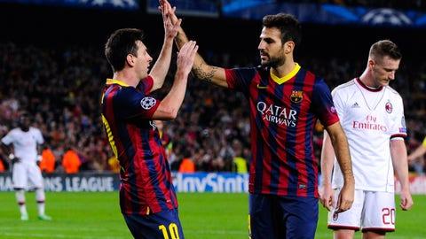 Barcelona vs. AC Milan, 2013 round of 16