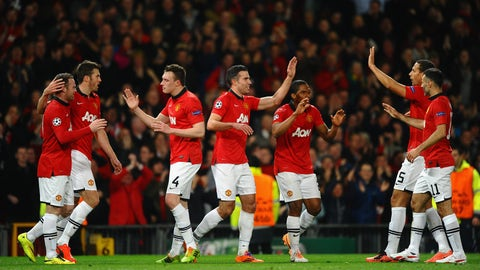 Manchester United vs. Olympiacos, 2014 round of 16