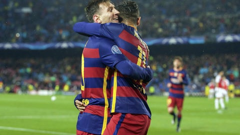 2015/16: Barcelona 5, Arsenal 1