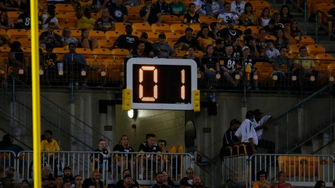 A 40-second clock after extra points would be instituted when going to a kickoff if there is not a commercial break