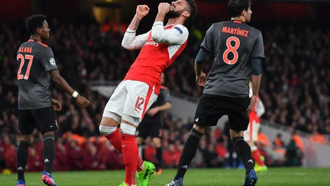 It's clear Olivier Giroud isn't Champions League quality
