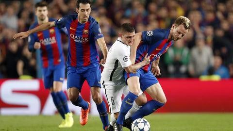 Barcelona's makeshift midfield