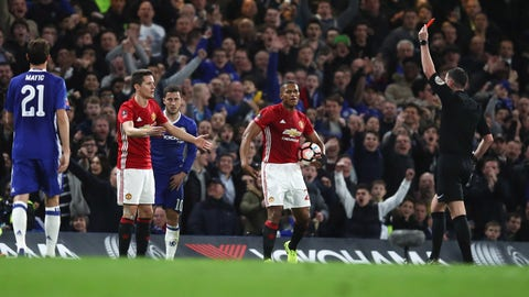 The red card to Ander Herrera was harsh, but not terrible