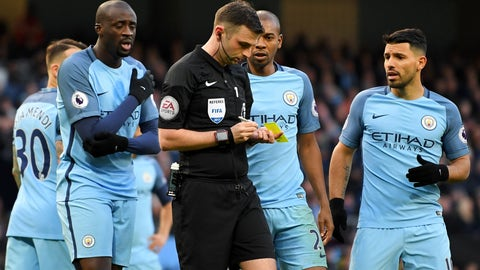 Michael Oliver missed some blatant penalties