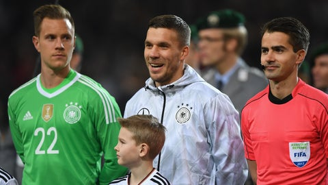 This was pretty much Podolski's testimonial