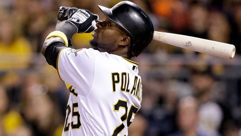 Pittsburgh Pirates' Gregory Polanco bats during a baseball game against the Milwaukee Brewers in Pittsburgh, Friday, Sept. 2, 2016. (AP Photo/Gene J. Puskar)