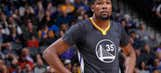 NBA News: Durant diagnosed with sprained MCL, out indefinitely