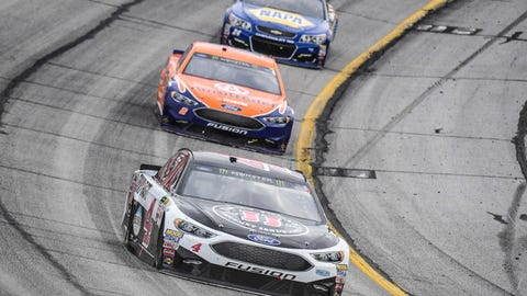 Harvick can't close at Atlanta