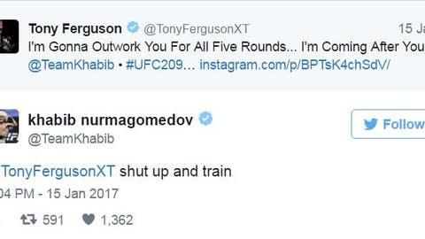 The time Khabib used four words to shut down Tony Ferguson