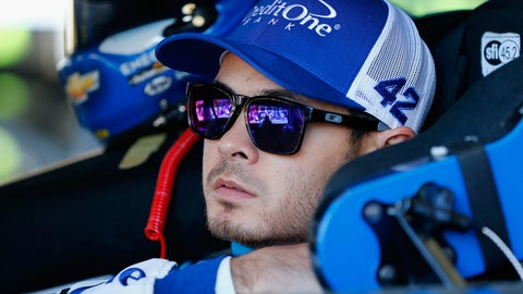 With as many second-place finishes as Kyle Larson has this season, how long do you think it will be until he gets frustrated and moves someone for a win? — Chuck