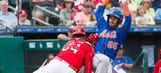 Watch: Mets infielder catches flying bat headed for dugout, saves entire team