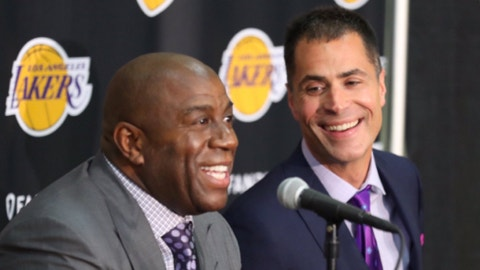 GM Rob Pelinka is an agent, and spreading rumors is what agents do