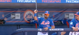 Mets prospect makes incredible, nonchalant grab of flying bat in dugout