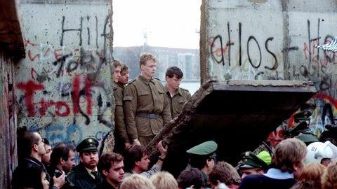 The Berlin Wall fell