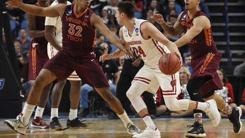 Koenig's treys advance Badgers past Virginia Tech