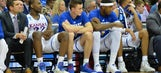 Kansas bumped from NCAA Tournament with 74-60 loss to Oregon