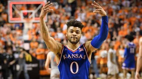 Frank Mason had 29 points as Kansas defeated Oklahoma State on Saturday night.