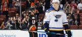 Blues' win streak halted at five in 2-1 loss to Ducks