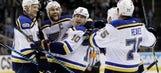 Blues stay hot with 4-1 win over Sharks