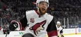 DeAngelo, Coyotes dent Kings' playoff hopes with long shootout win