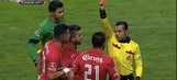 Watch 3 players get red cards in just 32 seconds after chaos breaks out