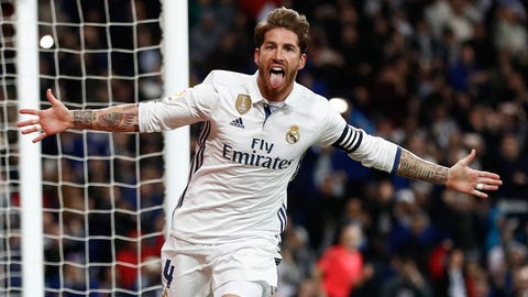 Center back - Sergio Ramos