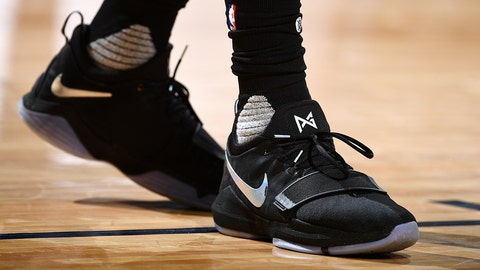 DENVER, CO - MARCH 6: Sneakers worn by Willie Cauley-Stein #00 of the Sacramento Kings during the game against the Denver Nuggets on March 6, 2017 at the Pepsi Center in Denver, Colorado. NOTE TO USER: User expressly acknowledges and agrees that, by downloading and/or using this Photograph, user is consenting to the terms and conditions of the Getty Images License Agreement. Mandatory Copyright Notice: Copyright 2017 NBAE (Photo by Garrett Ellwood/NBAE via Getty Images)