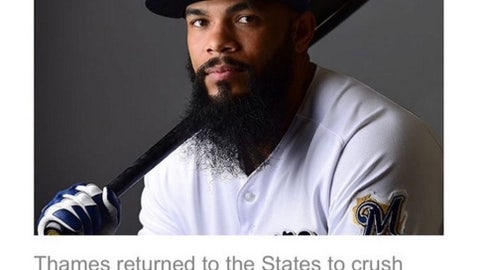 Eric Thames, Brewers first baseman