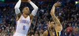 Westbrook has another triple-double, Thunder beat Jazz