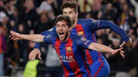 Barcelona vs. Paris Saint-Germain, 2017 round of 16