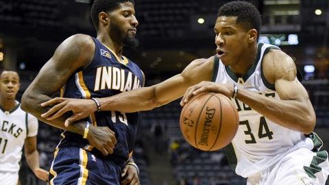 Indiana Pacers: 4/6, vs. Milwaukee Bucks
