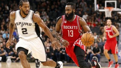 San Antonio Spurs: 3/6, vs. Houston Rockets