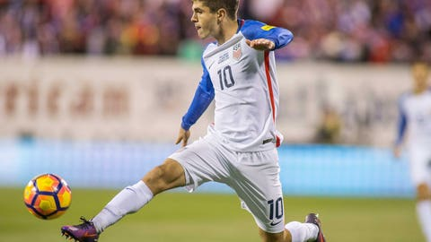 Central attacking midfielder: Christian Pulisic