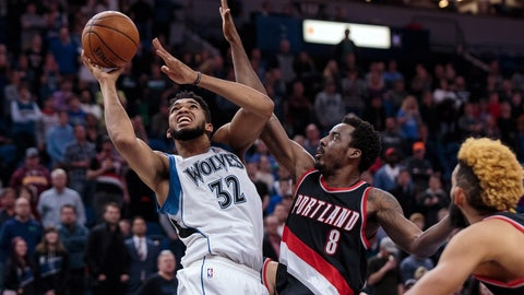 Minnesota Timberwolves: 3/6, vs. Portland Trail Blazers
