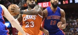 James has triple-double, Cavs beat Pistons 128-96