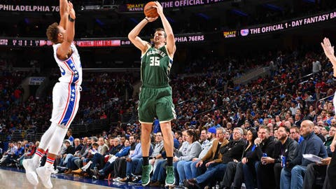 Mirza Teletovic, Bucks shooting guard (↑ UP)