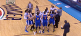 Thunder, Warriors scuffle after Stephen Curry gets in shoving match with Semaj Christon