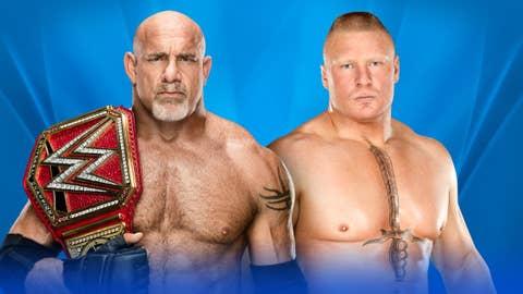 Goldberg (c) vs. Brock Lesnar for the WWE Universal Championship