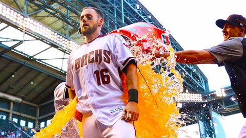 Walk-off winners always get a bath