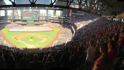 Panoramic view of Chase Field preagme
