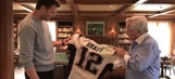 Watch Tom Brady reunite with his stolen Super Bowl jerseys for the first time
