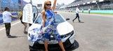 Shots from Paris Hilton's visit to the Mexico City ePrix