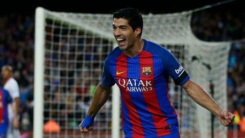 Striker: Luis Suarez (Barcelona)