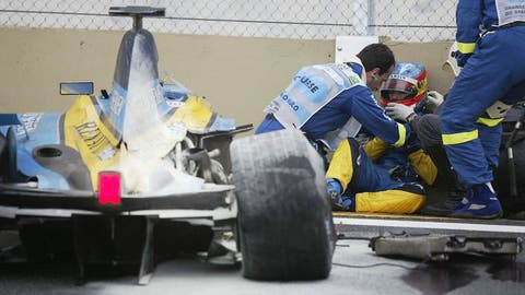 Fernando Alonso's crash