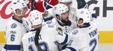 Nikita Kucherov scores goal No. 40, Bolts top Canadiens to remain in playoff hunt