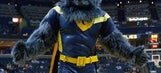 Memphis Grizzlies' mascot puts a hurting on his rival