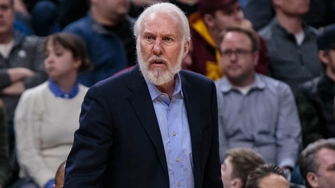 Gregg popovich conceded the game in the first quarter