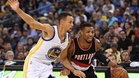 Warriors over Blazers in five games