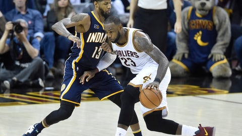 The Pacers' only chance at an upset is Paul George defending LeBron James