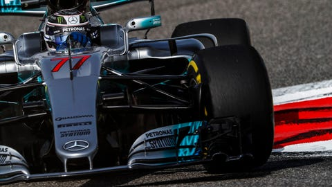 Valtteri Bottas will start on pole for the Bahrain GP. (Photo: Glenn Dunbar/LAT Images)